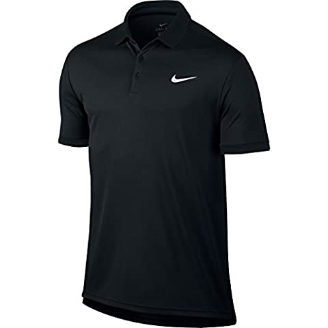 Nike Court Dry Polo Homme, Noir/Noir/Noir/Blanc, FR : M (Taille