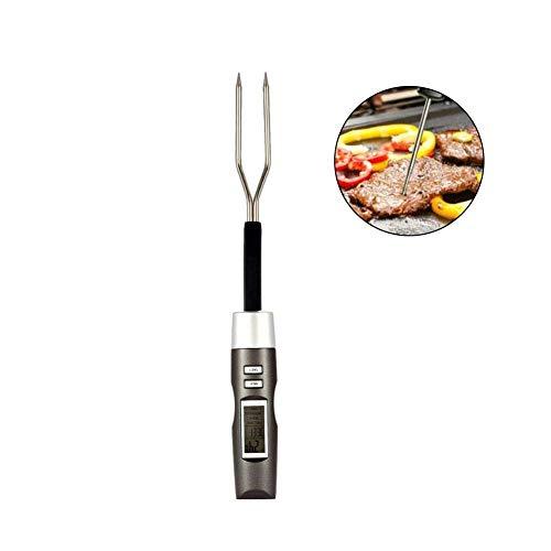 CHUDAN Digital Nahrungsmittelfleisch Thermometer, Long Probe LCD-Anzeigen Food Thermometer für Küche Kochen, Grillen, Geflügel, BBQ, Schnell und Auto EIN/Aus -