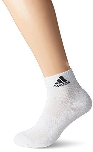 adidas Herren 3s Performance Ankle Half Cushioned 6pp Socke, Weiß white Weiß  white