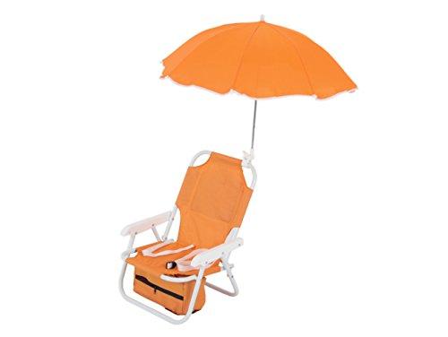 Sedia a sdraio dajar con l'ombrello per i bambini arancione,