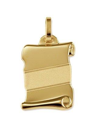 www.diamants-perles.com-Anhänger Brief-Platte Gelbgold 750/1000 (matt (Brief-platte)