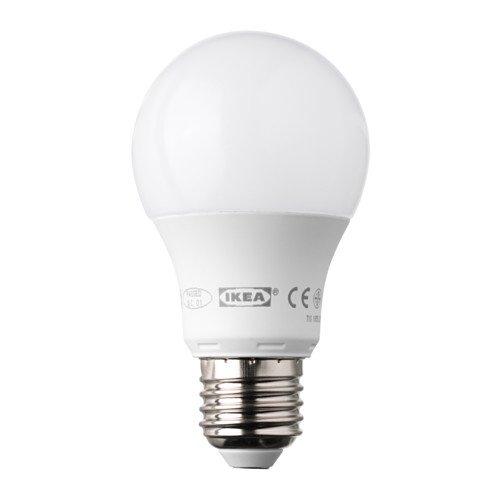 IKEA ledare bombilla LED E27400lúmenes 6,3W regulable globo Ópalo blanco