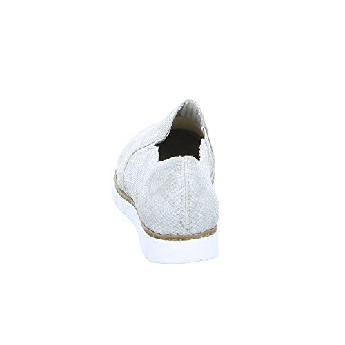 Rieker Damenschuhe M1354 Damen Halbschuhe, Slipper & Mokassins, extra weiche Decksohle, Gummizug Metall