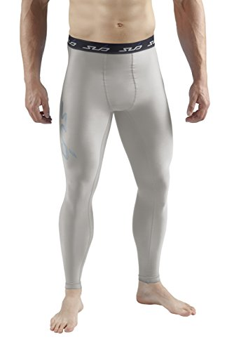 Sub Sports Herren Cold Kompressionshose Thermisch Funktionswäsche Base Layer Hose Grau, M 3/4 Base Layer Pants