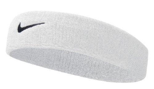 Nike Swoosh Headband (White/Black, Osfm)