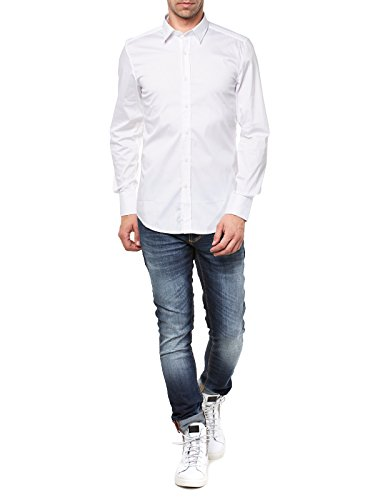 Antony Morato Chemise à manches longues homme Chemise business Bianco