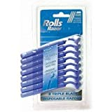 Rolls 8 Pack Triple Blade Mens Disposable Razors