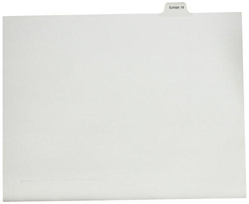 Avery machen Numberic Seite Tab Rechtliche Exhibit Teiler, 25pro Pack, weiß (82150) (Avery Teiler Weiß)