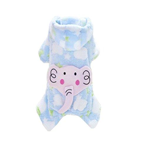 MagiDeal Ropa de Perro Gato Pijamas Mascotas Transpirable Suave Cómodo Duraduro - Azul, XL
