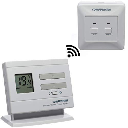 COMPUTHERM Q3RF digitaler Funk-Raumthermostat, Thermostat für Heizung, Klimaanlagen & Fußbodenheizung, Wand-Thermostat kabellos & digital -