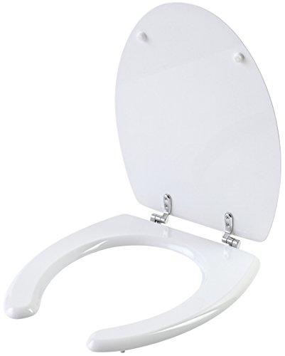 Feridras comfort copriwater universale per disabili, legno, bianco, 6x39x47 cm