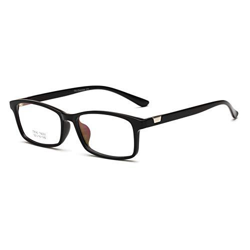 YMTP Optische Gläser Rahmen Männlich Rechteck Brillen Weiblichen Klassischen Brillen Rezept Rahmen Ultraleicht, Hell Schwarz
