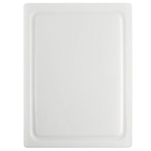 Dexas 4525-133 NSF Approved Poly Cutting Board with Juice Well, 12 x16 x 5/8 inches, White Heavy-duty Cutting Board