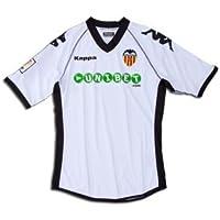 Kappa Valencia C.F. - Camiseta de fútbol, color blanco, 2010-11