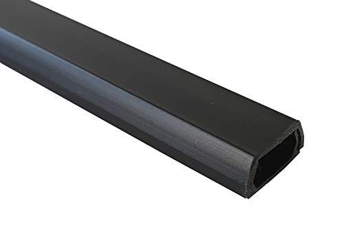 1m Kabelkanal 10x6mm (Innenmaß) selbstklebend (Verbinder verfügbar), Farbe:schwarz