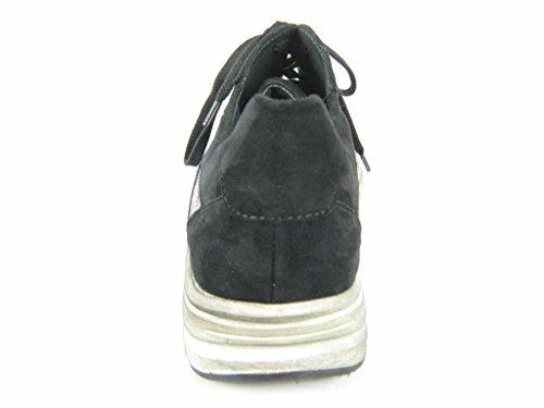 Semler  U3095599001, Chaussures de ville à lacets pour femme Schwarz