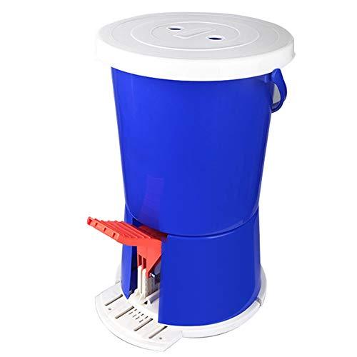 Pedal-Art Mini-Waschmaschine, tragbare und kompakte Bauweise Keine Notwendigkeit, elektrische PP-Kunststoff-Material 2KG Kapazität (blau) für Wohnheim Wohnung im Freien Camping Auto Reisen, etc. zu ve
