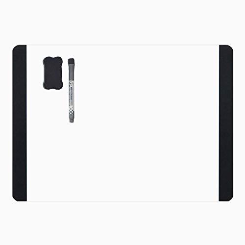 villexun Whiteboard A4Trocken abwischbares Whiteboard weiß Tabelle Memo Board Notizbrett mit Whiteboard Marker Memo Board Kühlschrank Magnet Note Flexible Big Zeitplan für Kühlschrank Tür (Board Kühlschrank Marker)