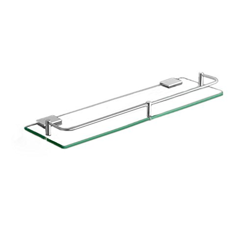 FACAIY Badablagen Wand Mount ESG Glas Aluminium eloxiert, 30 cm