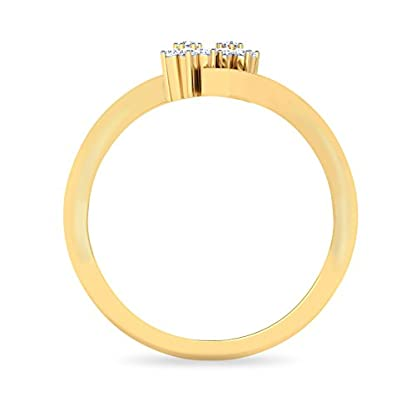 PC Jeweller The Ziya 18KT Yellow Gold & Diamond Rings