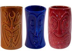 Tiki-Shot-Glasses-2-Oz-Comes-with-Brown-Blue-and-Red-by-KC-Hawaii