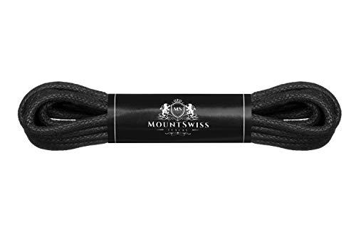 Cordones Mount Swiss© Luxury encerados y redondos para zapatos de traje y de piel, 2 - 3mm de diámetro...