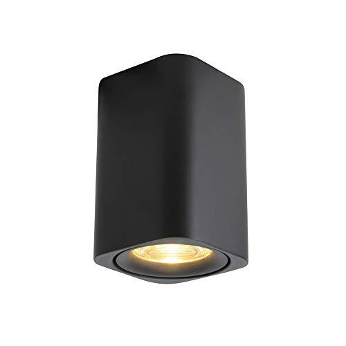 Lionze LED Aufputz Panel Lampe Runde Nordic Decor Decke Downlight for Raum Korridor Flur Foyer COB Cube Spot Licht (Color : Black 7W, Größe : Warm White) - Foyer Lichte Höhe