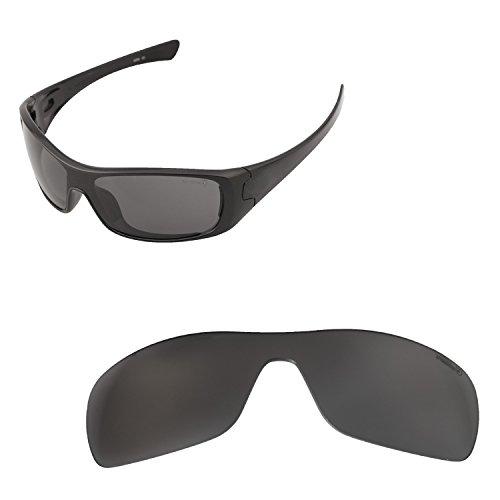 Walleva Ersatz-Objektive für Oakley Antix Sonnenbrille-20Optionen erhältlich, Unisex-Erwachsene, Black - Mr. Shield Polarized