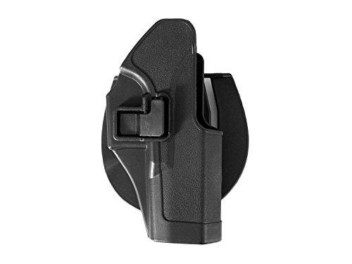 KYOU Hartschalenholster / Formholster mit Paddle & Gürteladapter, für Glock - schwarz (G17 Glock)