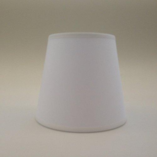 Weiß Kleine Kerze Clip auf Lampenschirm Deckenleuchte Kronleuchter Wandleuchte Lampe Lampenschirm handgefertigt Baumwolle Stoff