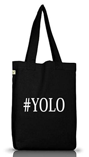 Shirtstreet24, YOLO 2, Jutebeutel Stoff Tasche Earth Positive Black