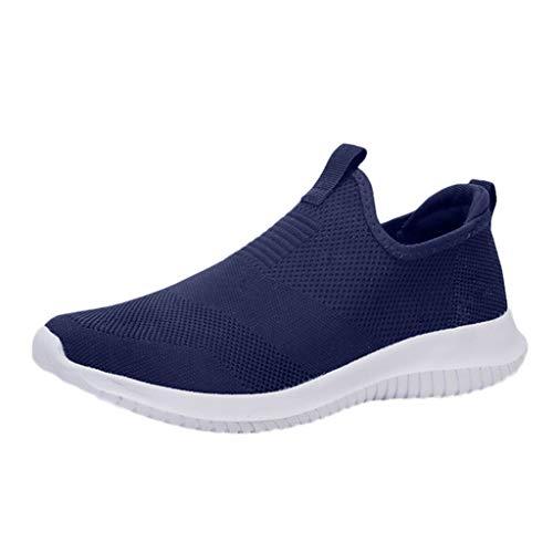 Calzado Deportivo para Hombres,ZARLLE Zapatillas de Deporte Hombres sin Cordones Running Zapatos Gimnasia Entrenamiento Sneakers Transpirables Sport