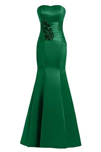 Sunvary Mermaid Sweetheart fiori in raso per abiti da sera Gowns sera Green
