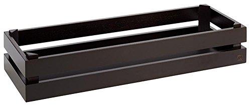APS Caja de madera–Super Caja de madera de acacia, Negro 55,5x 18,5x 10,5cm
