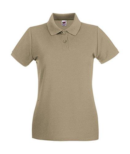 Fruit of the Loom: Lady-Fit Premium Polo 63-030-0, Größe:M (12);Farbe:Khaki (Khaki Shirt)