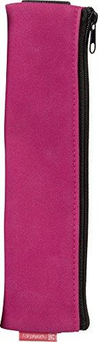 Brunnen 104903526 Schlamper-Etui Colour Code mit Gummiband (21 x 5 x 1 cm, in Veloursleder-Optik) rosa