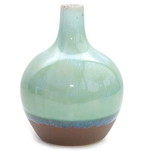 Vase \'Ecolo\' Keramikvase Dekovase Keramik türkis blau grün Ethno skandinavisch modern Dekoration