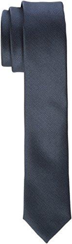 James Tyler Herren schmal, handgefertigt Krawatte,per pack Grau (Anthrazit Anthrazit),5