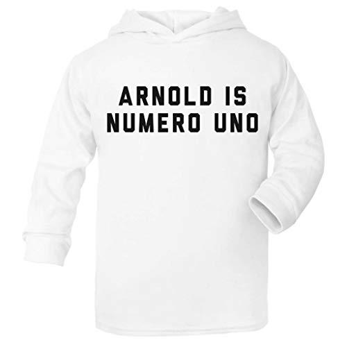 (Cloud City 7 Arnold Schwarzenegger Arnold is Numero UNO Baby and Kids Hooded Sweatshirt)