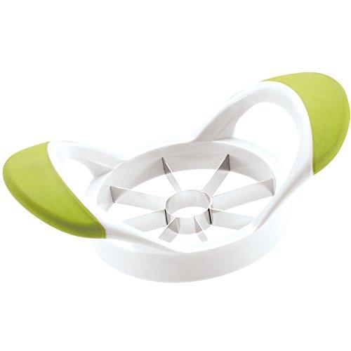 Westmark 51622270 8P Coupe-Pomme Plastique Blanc/Vert 17,5 x 10,5 x 6 cm