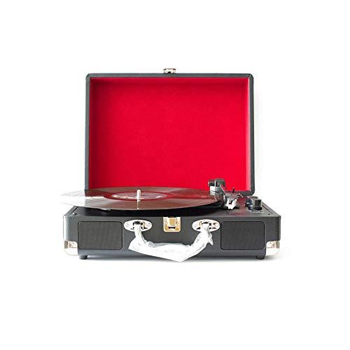 Contactsly-music Haut-Parleur Bluetooth Vintage rétro, Portable Nostalgique Rétro Phonographe Disque Vinyle Record Machine Vinyle Vintage Valise avec Bluetooth Haut-Parleur Classique Portable