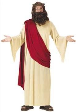 Jesus costume with wig and beard costume
