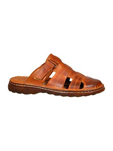 Chaussures Confortable Pour Homme Sandales En Cuir Naturel Avec Une Forme Orthopedique Modele 877 Brun
