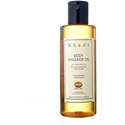 Khadi Body Massage Oil With Jojoba- Herbal & Ayurvedic- 210 Ml