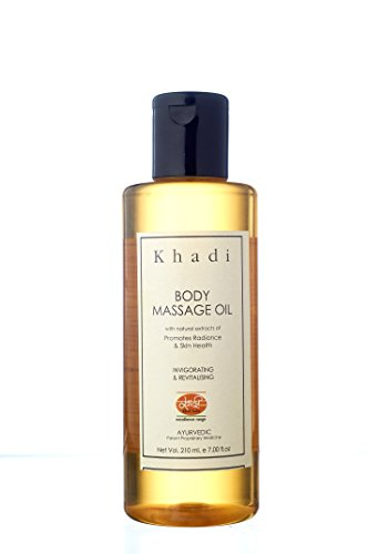 KHADI Body Massage Oil with Jojoba- Herbal & Ayurvedic- 210 ml  available at amazon for Rs.130