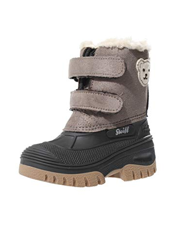 Steiff Knopf im Ohr - Kinder Schuhe Stiefel Winter Jungen Pauli mit Klettverschluss, Farbe:Braun, Größe:EUR 24