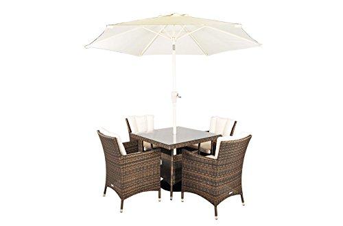 Savannah rattan garden furniture 4 seat square glass top for Rattan garden furniture seat covers