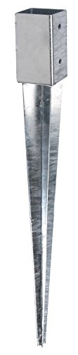 GAH-Alberts 208080 Einschlag-Bodenhülse für Vierkantholzpfosten - feuerverzinkt, 46 x 46 mm / 600 mm