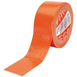 Tesa Sas 466200195 Klebeband Leinwand, 25 m x 48 mm, Orange
