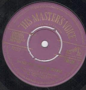 "MY VERY GOOD FRIEND THE MILKMAN 7"" (45) UK HIS MASTERS VOICE 0 PURPLE/GLD LABEL DESIGN B/W SHORTNIN BREAD (7M128)"